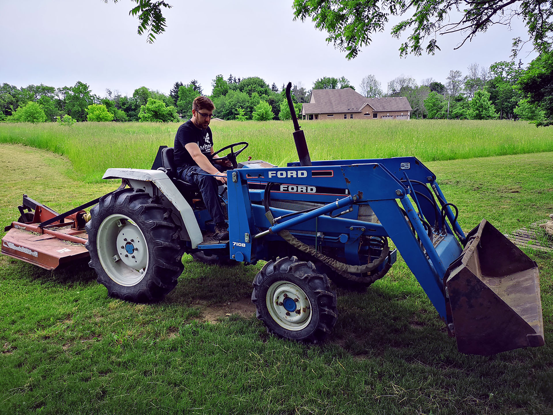 Joel on the tracktor