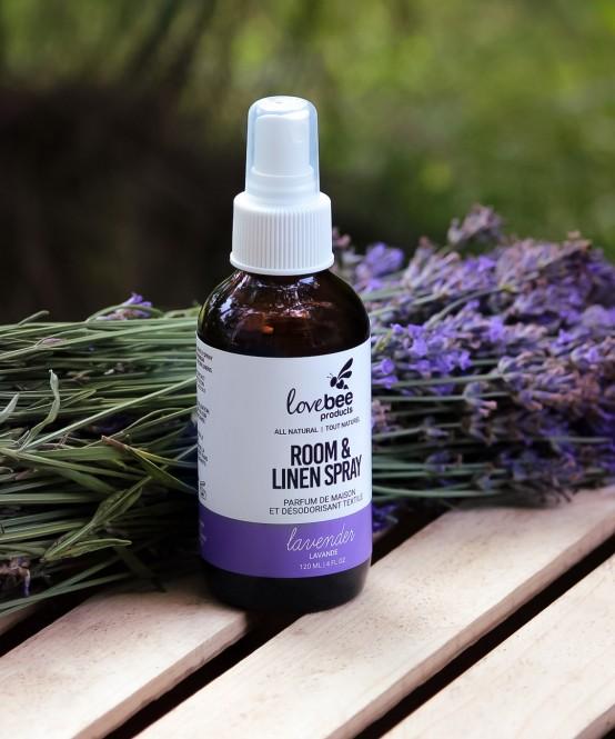 Lavender Room Linen Spray Lovebee
